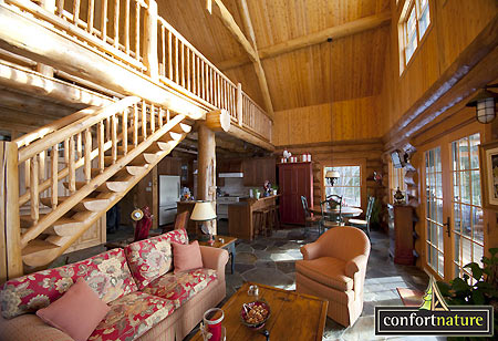 Maison en bois rond