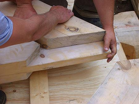 Maison fustes de bois