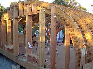 Autoconstruction maison ronde en bois