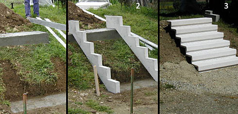 escallier beton