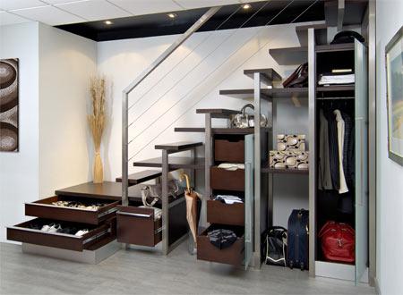 escalier personnalisable rangement