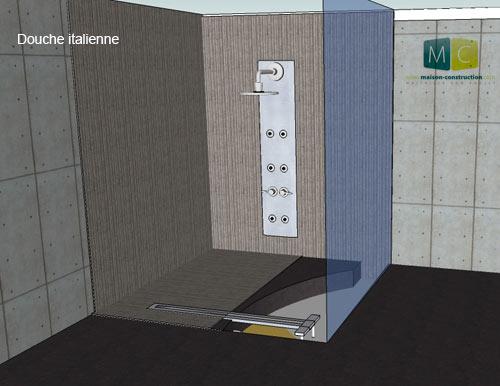 construction-douche-à-l-italienne