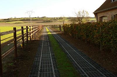 Chemin accès sans terrassement